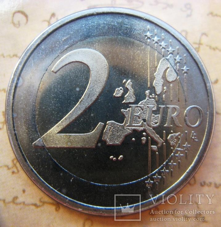 """Нидерланды, 1 серебряная рупия """"400 лет VOC"""" + евро-набор 2002 PROOF, фото №8"""