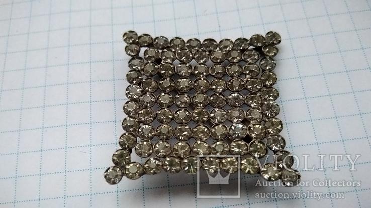 Брошь серебро 875 пр. звезда с камнями, фото №2