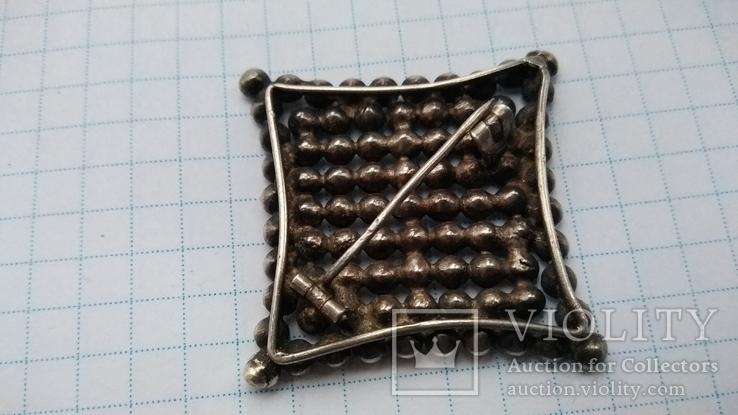 Брошь серебро 875 пр. звезда с камнями, фото №3