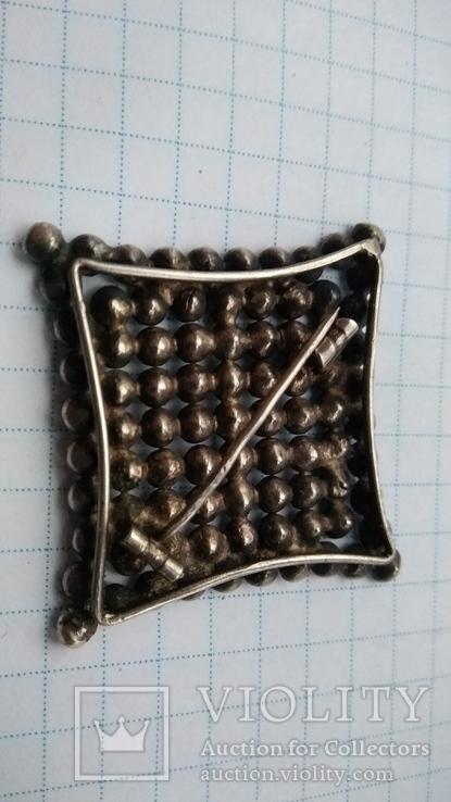 Брошь серебро 875 пр. звезда с камнями, фото №4