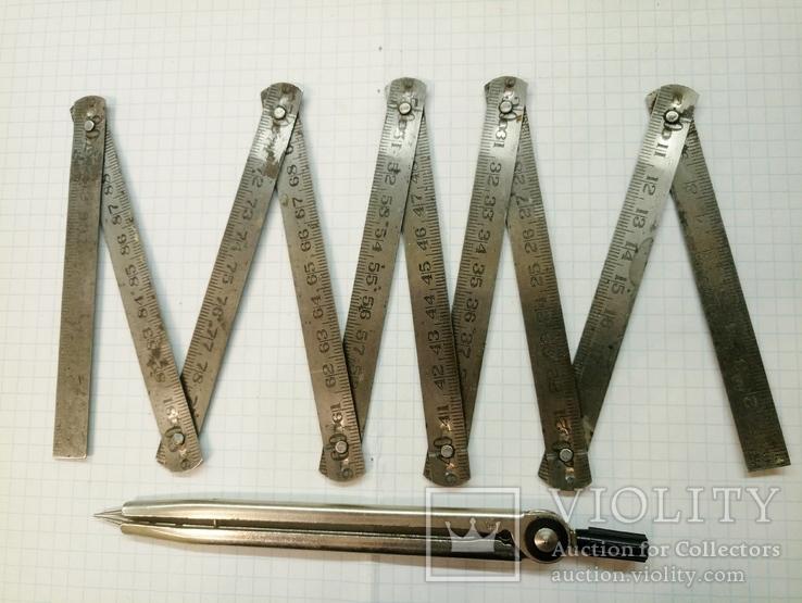 Метр металлический из СССР. ГОСТ 7253-54, фото №2
