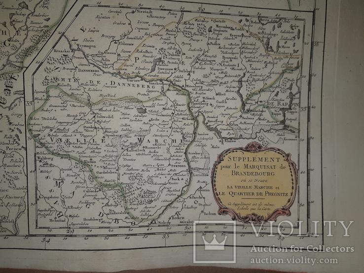 1751 Карта Померании и Бранденбурга, фото №4