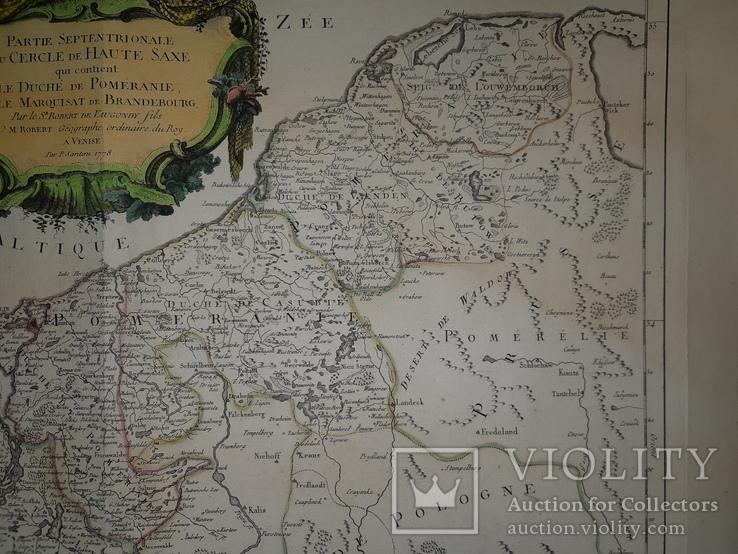 1751 Карта Померании и Бранденбурга, фото №5