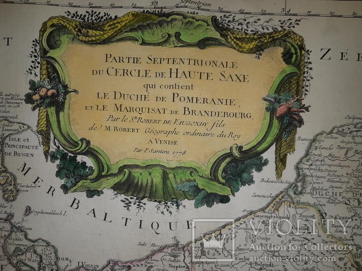 1751 Карта Померании и Бранденбурга, фото №7