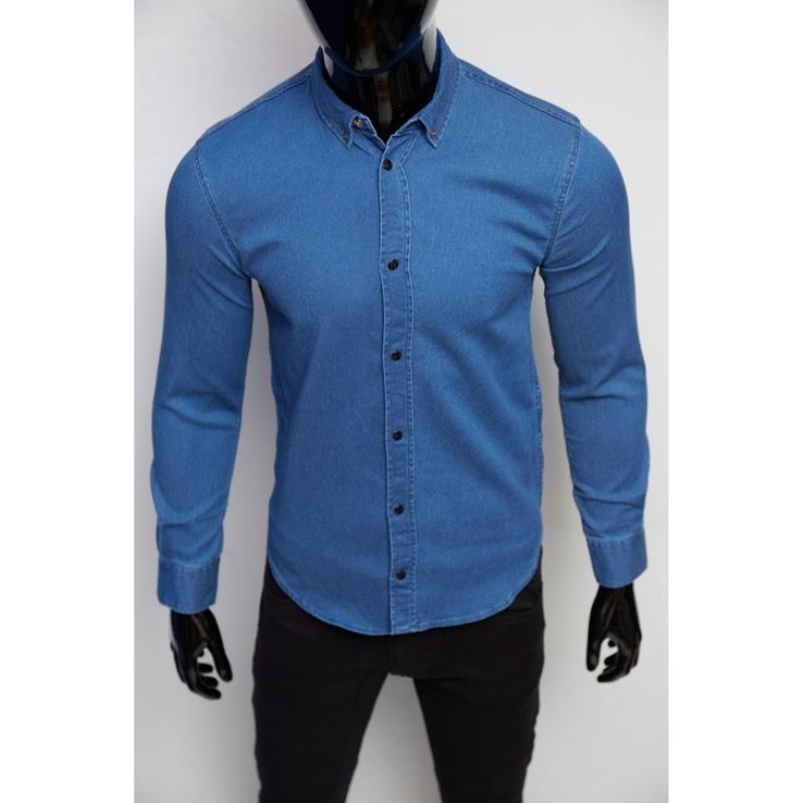Рубашка мужская джинсовая Figo 16000-2 синий джинс
