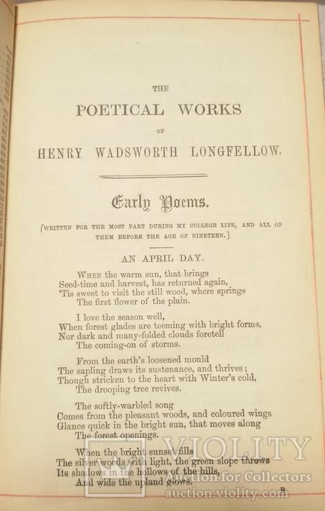 """Старая книга """"The poetikal works of Longfellow"""", фото №7"""