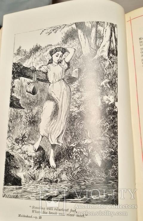 """Старая книга """"The poetikal works of Longfellow"""", фото №9"""