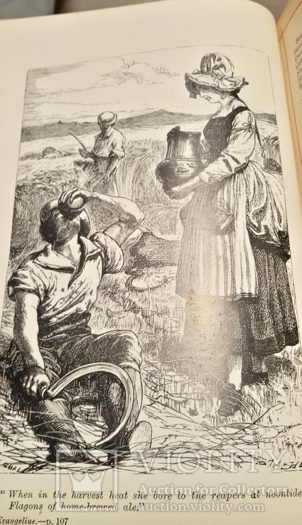 """Старая книга """"The poetikal works of Longfellow"""", фото №10"""
