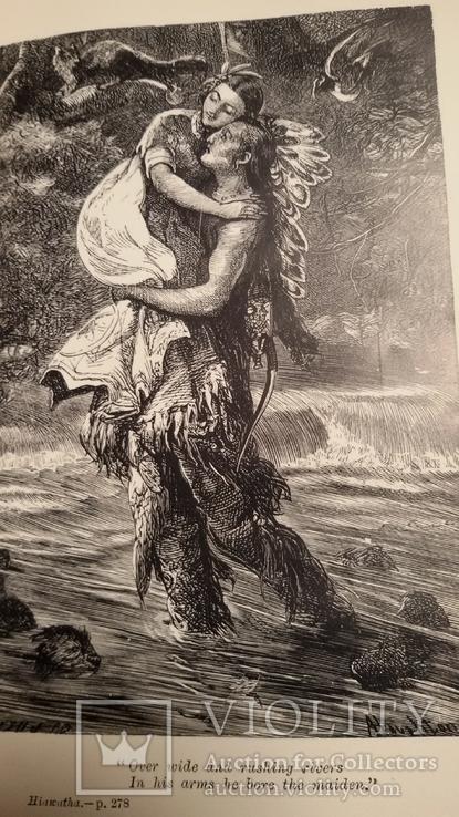 """Старая книга """"The poetikal works of Longfellow"""", фото №11"""