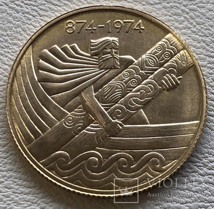 10000 крон 1974 год Исландия золото 15,56 грамм 900'