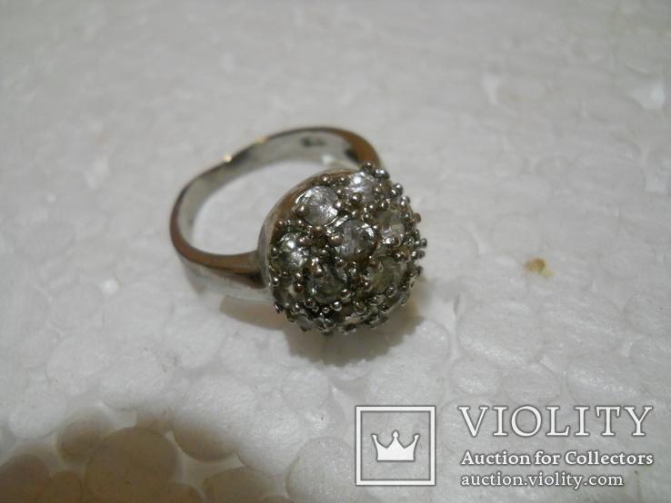 Кольцо женское бижутерия  17 размер, фото №2