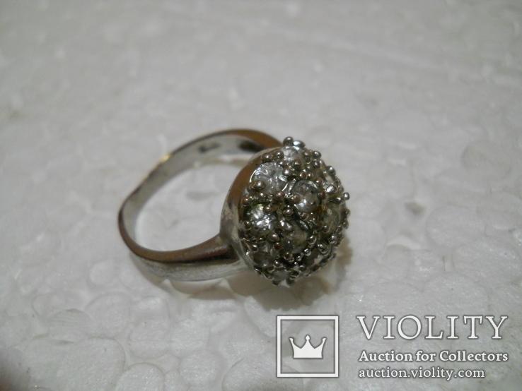 Кольцо женское бижутерия  17 размер, фото №3