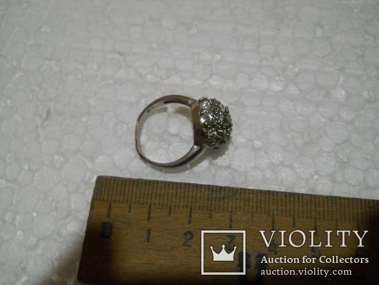 Кольцо женское бижутерия  17 размер, фото №4