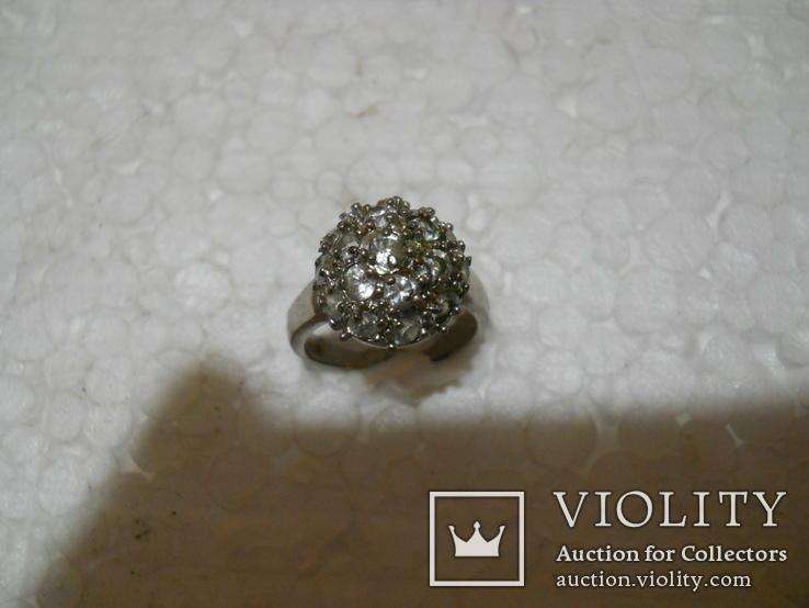 Кольцо женское бижутерия  17 размер, фото №5