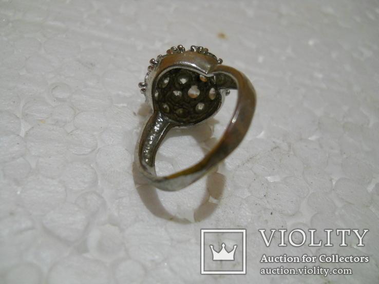 Кольцо женское бижутерия  17 размер, фото №6