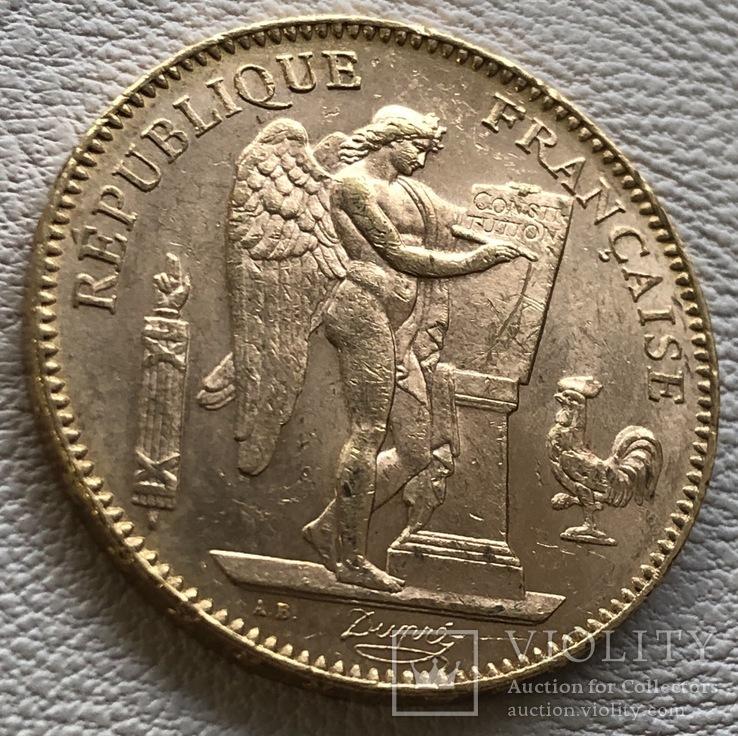 50 франков 1904 года Франция золото 16,12 грамм 900', фото №6