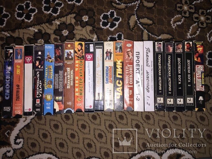 Коллекция Видеокассеты, 20 шт. боевики Джеки Чан, фото №2