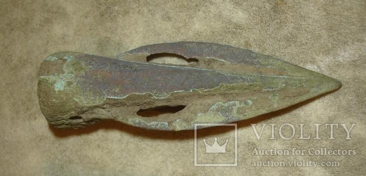"""Белозерская культура, примерно 1260-1000 гг. до н.э., наконечник типа """"Златополь"""", фото №3"""