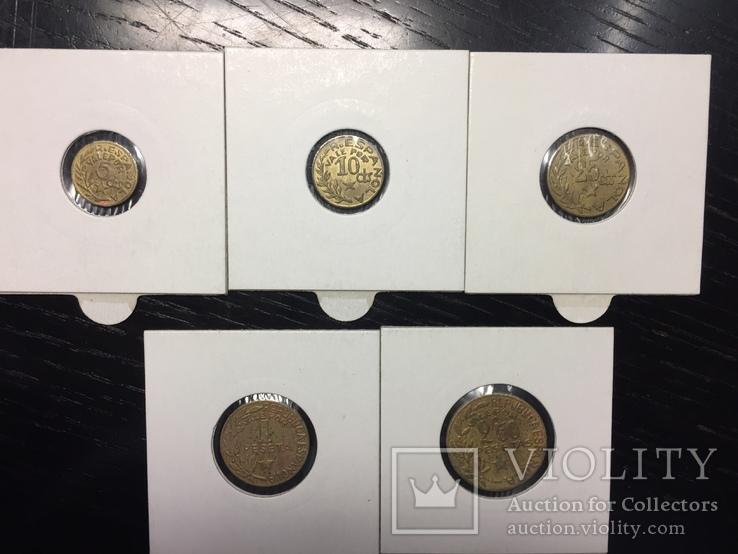 Менорка 1937 г. полный набор 5 монет, фото №2