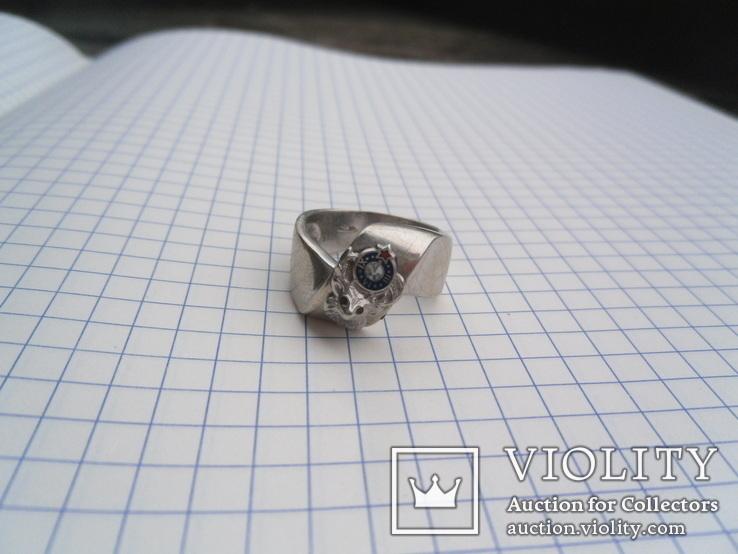 Кольцо из белого золота с масонской символикой