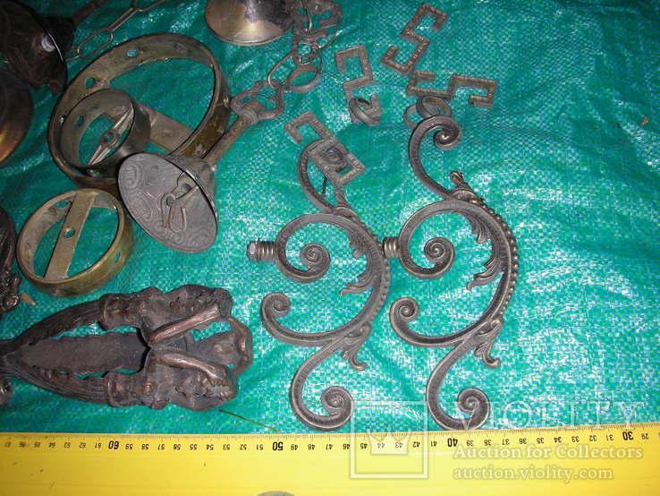 Детали,запчасти для люстр,бра,бронза ,латунь(8), фото №3