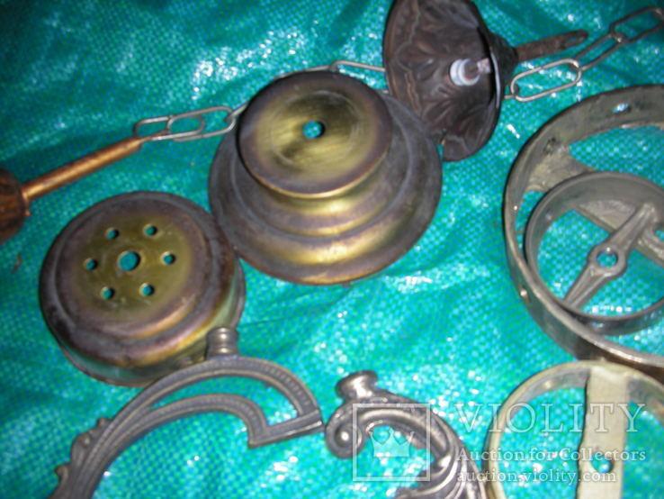 Детали,запчасти для люстр,бра,бронза ,латунь(8), фото №6