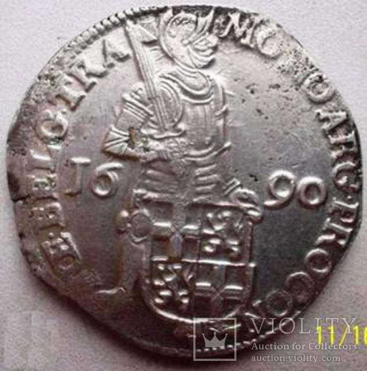 Срібний дукат 1690 р. Утрехт Нідерланди, фото №3