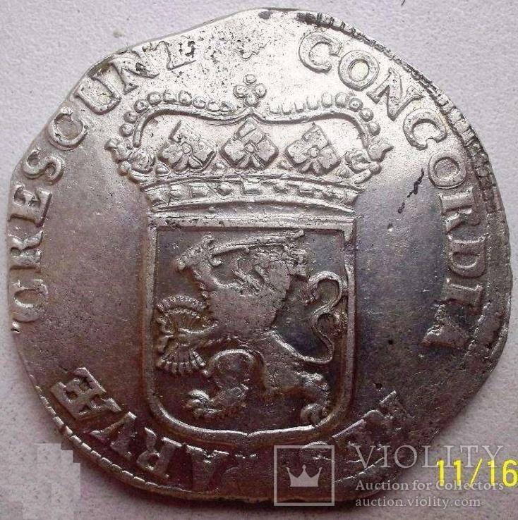 Срібний дукат 1690 р. Утрехт Нідерланди, фото №8