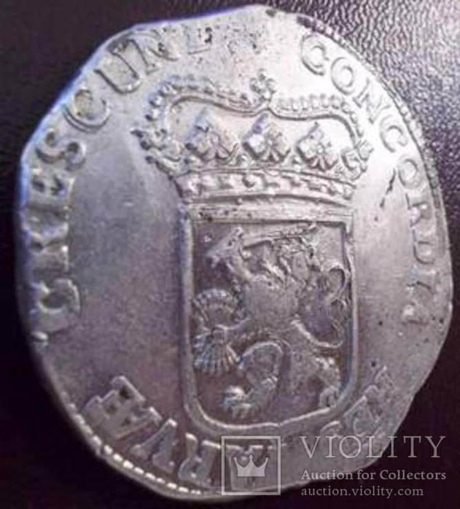 Срібний дукат 1690 р. Утрехт Нідерланди, фото №11