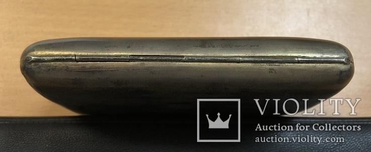 Серебряный портсигар 875 пробы, фото №7
