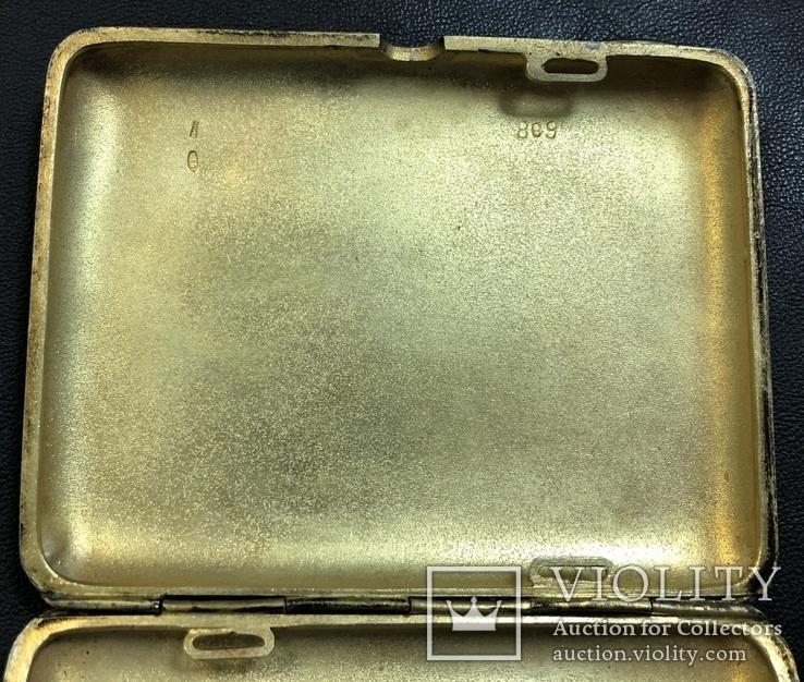 Серебряный портсигар 875 пробы, фото №9