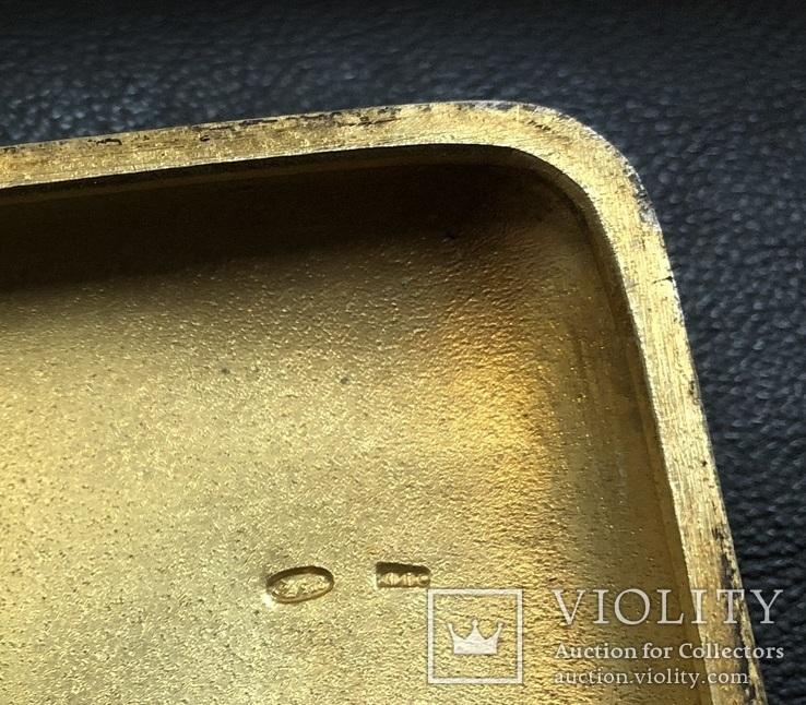 Серебряный портсигар 875 пробы, фото №12