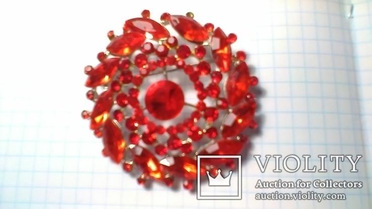 Брошка червона, фото №5