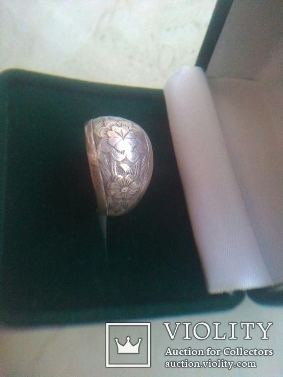 Кольцо СССР срібне дуте р. 18, фото №3