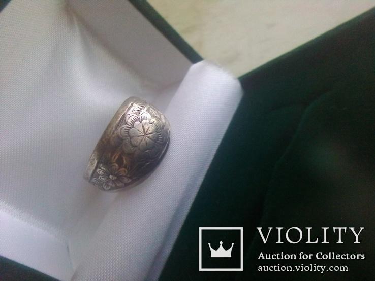 Кольцо СССР срібне дуте р. 18, фото №5