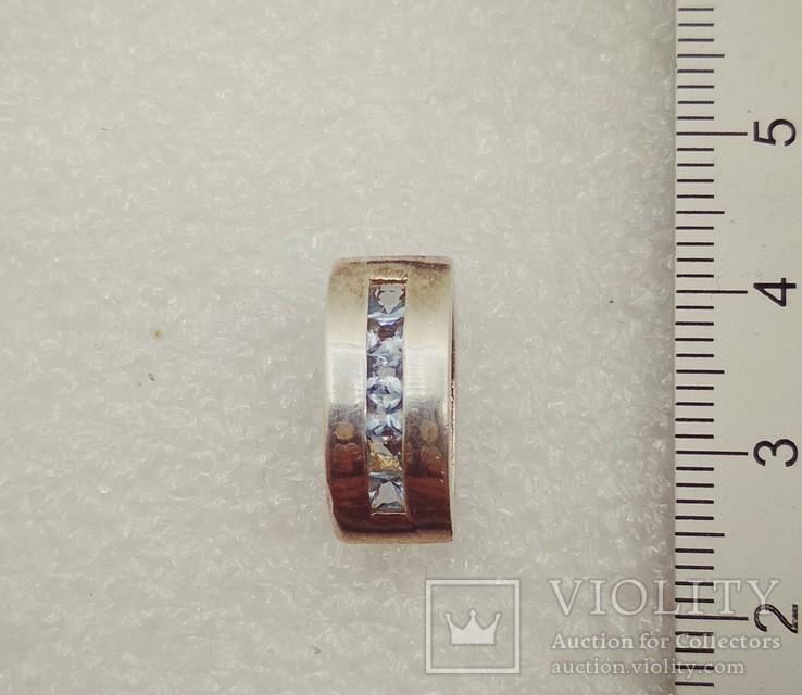 Кулон подвеска серебро с камнями, фото №2