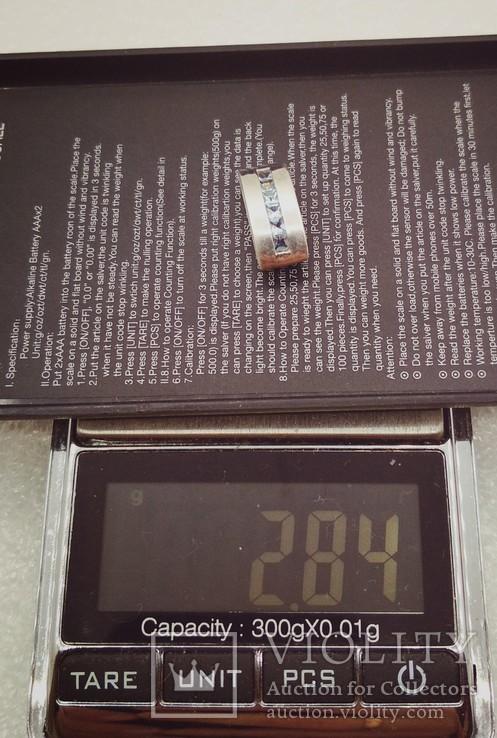 Кулон подвеска серебро с камнями, фото №6