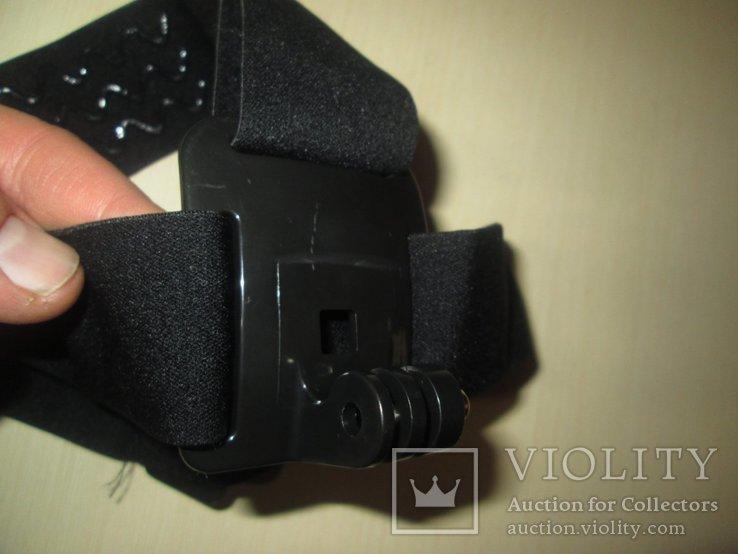 Эластичный держатель экшнкамеры ,на голову, фото №5