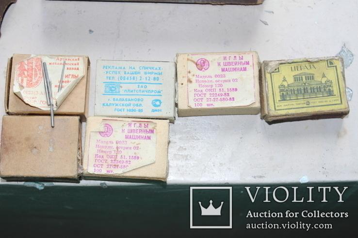 Шість коробків з клеймованими новими голками для шиття часів СССР, фото №3
