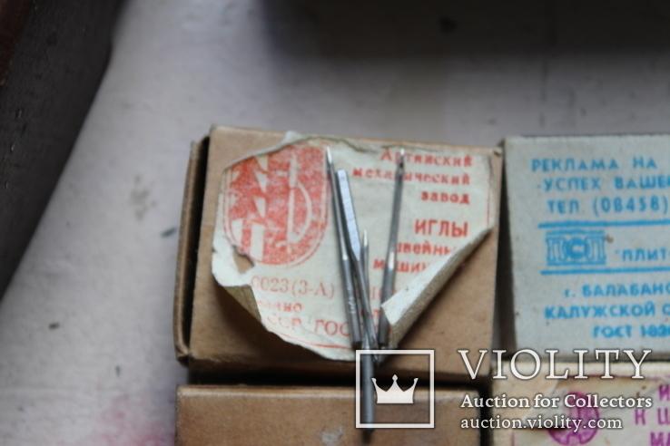 Шість коробків з клеймованими новими голками для шиття часів СССР, фото №7