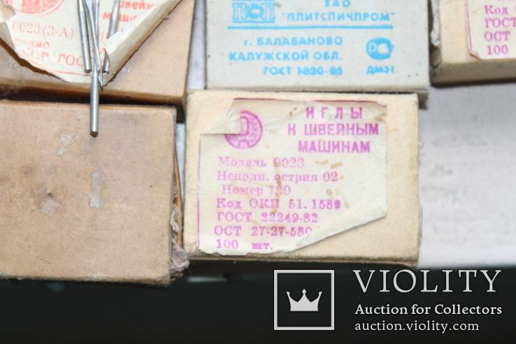 Шість коробків з клеймованими новими голками для шиття часів СССР, фото №9
