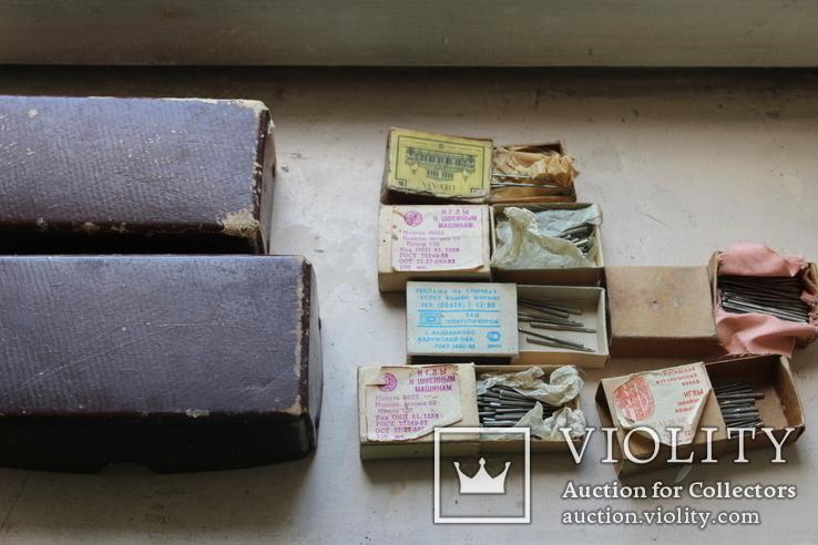 Шість коробків з клеймованими новими голками для шиття часів СССР, фото №10