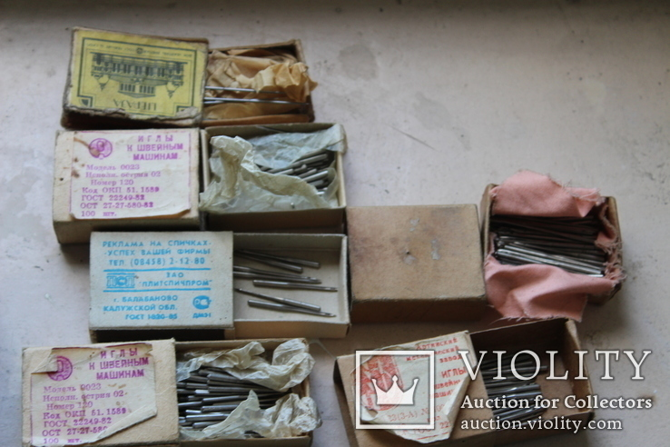 Шість коробків з клеймованими новими голками для шиття часів СССР, фото №11