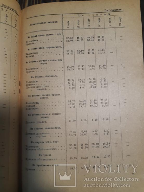 1934 Прейскурант на пушно-меховые и овчино-шубные товары, фото №7