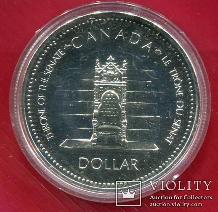 Канада 1 доллар 1977 Пруфлайк Юбилей Коронации, фото №2