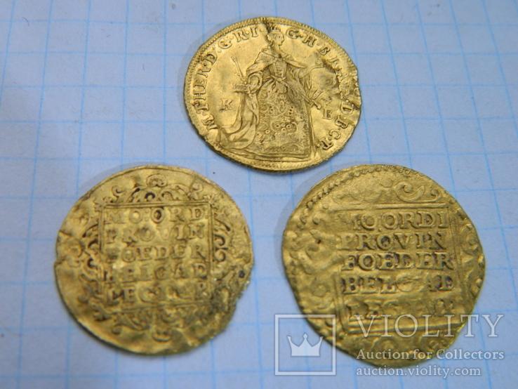 Дукати одним лотом ( 3 штуки ) 1748, 1765, 1779 рік.