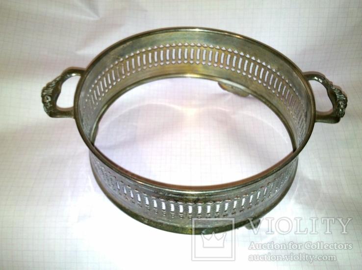 Подставка для блюда. Серебрение., фото №3