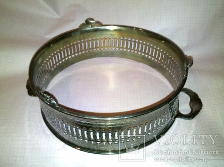 Подставка для блюда. Серебрение., фото №4