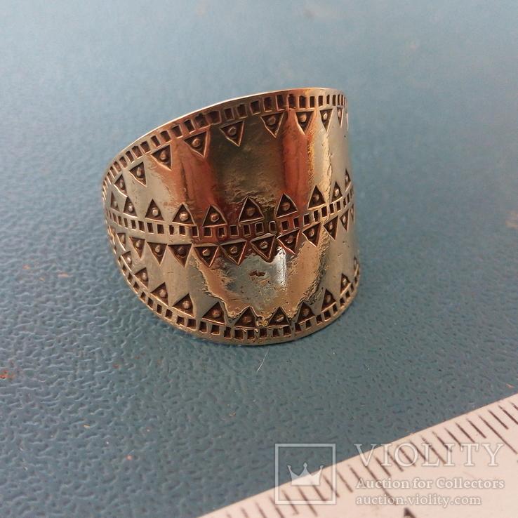 Реплика Копия Перстень Пластинчатый КР Скандинавия, фото №3