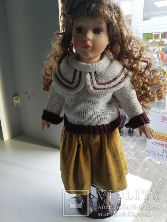 Кукла Высота 42 см, керамика на подставке, фото №2